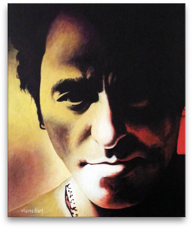 Bruce Springsteen 'The Boss' original painting art